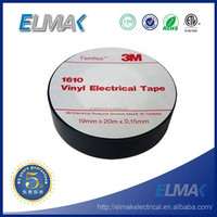 colored pvc insulation 3m black tapes 19mm x 20m - 10 Rolls