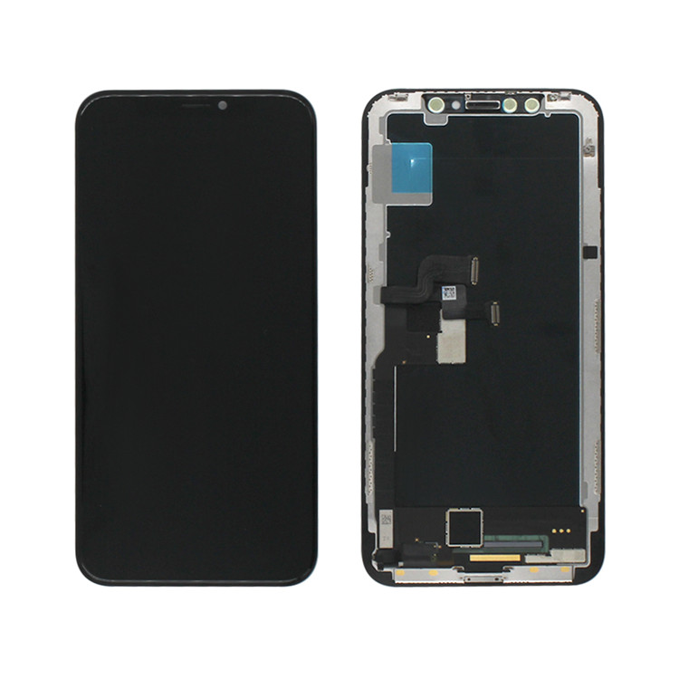 OLED Soft Flexible LCD For Apple iPhone X OLED LCD Screen Touch Display Replacement GX