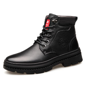 high quality warm Genuine Leather male and female Work military boots shoes for men winter boot