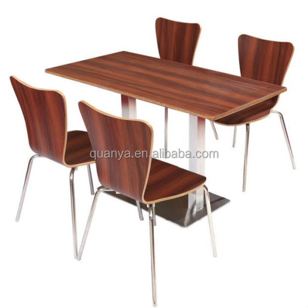 Stronge wooden school canteen/restaurant table and chairs