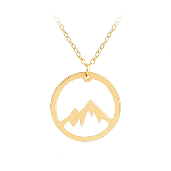 Simple creative jewelry snow mountain pendant necklace for women men simple creative jewelry snow mountain pendant necklace for women men with alloy chain hollow round necklaces aloadofball Images