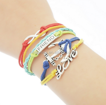 Fashion Aliexpress Infinite Love Anchor Friendship Bracelet Best Friend Bracelets For S