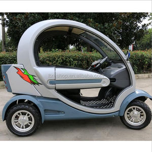 electric car China small enclosed automobile mobility scooter 60v 1000w 32ah 4 wheel 2 seat handicapped scooter for elderly