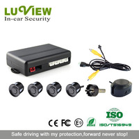 Vehicle parking sensor system with 4 sensors for security