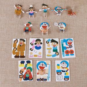 HOT sale different patterns anime characters education puzzle game diy 3d card