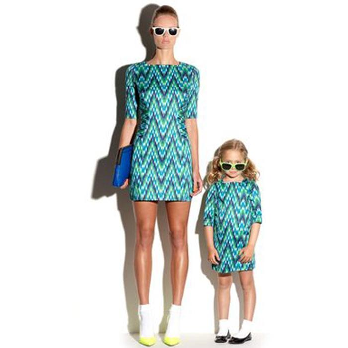 Соответствующие мать-дочь одежды летний стиль матери-дочери соответствующие платья мама и дочь платье мода семья одежда
