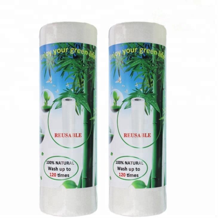 La cocina de toallas de papel 100% orgánico de fibra de bambú de perforada lavable paño plato