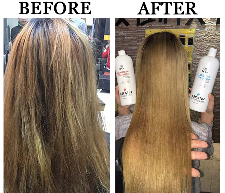 high quality straight effect cream brazilian keratin hair treatment