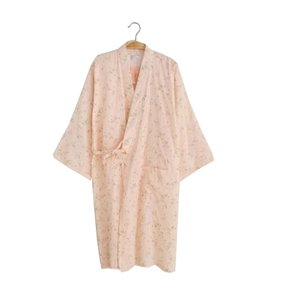 Get Quotations · Ladies Lightweight Cotton Dressing Gown Bathrobe - Kimono Robe  100% Cotton - B 7a2c9a38f