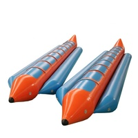 PVC Inflatable Ocean Float Rider 6 Seats Flying Towable Tube Water Sports Banana Tube Boat Fly Fish Agua Inflatable For Sale