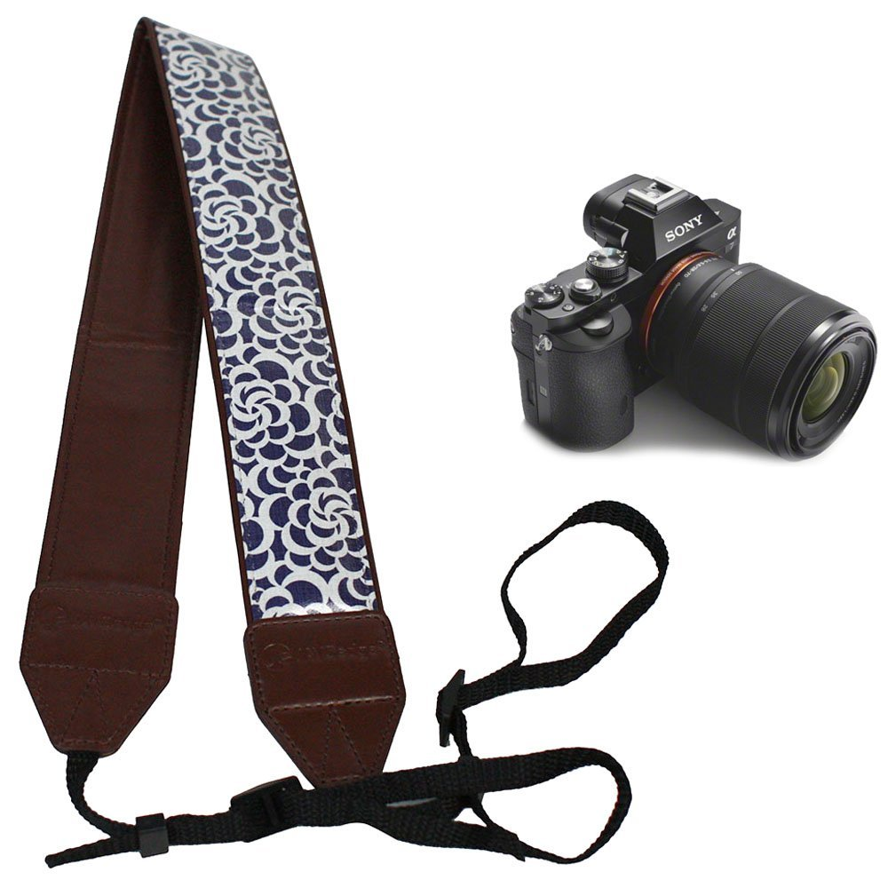 JAVOedge Cotton Print Universal Adjustable Camera Shoulder & Neck Strap for Nikon, Canon, Sony