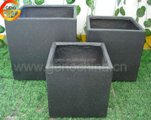 Home deco square ceramic pot, eco fiberglass square planter