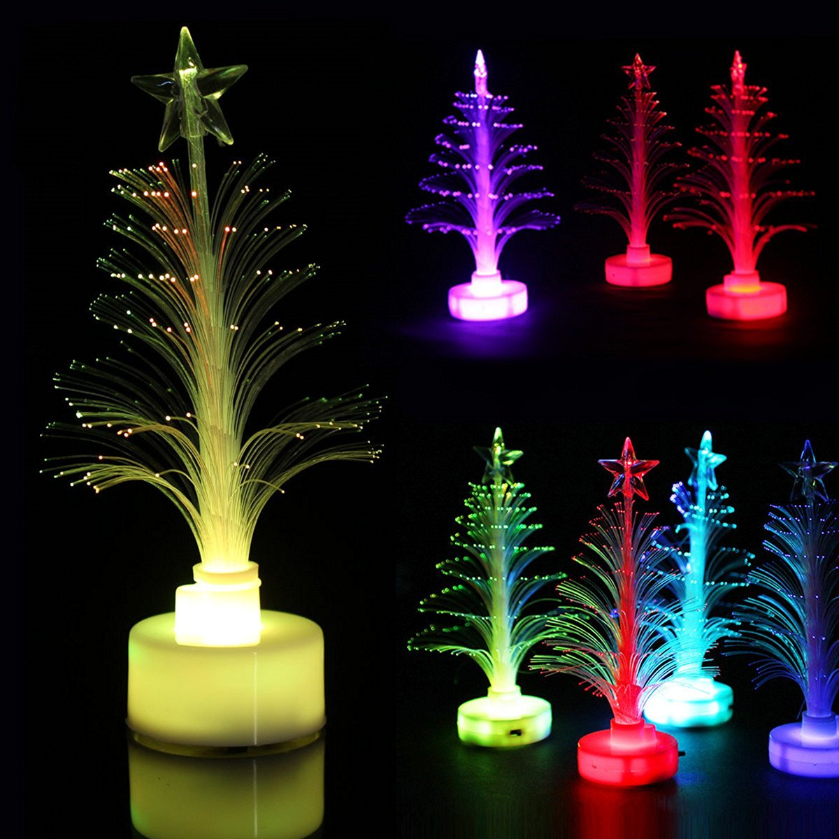 Multicolor LED Christmas Tree Crystal Christmas Tree Party Decoration