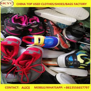 Second hand shoes in sack 25kg like news high grade for Africa big size fashion used shoes