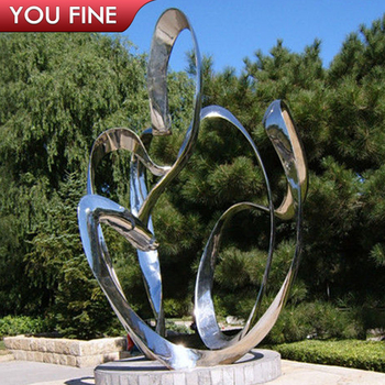 Outdoor Mirror Polished Stainless Steel Sculpture