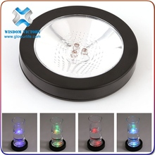 Cheapest Items Special Custom UV Black Light Weight Sensitive LED Coaster