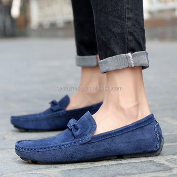82f0be06671 2018 New style leather cow suede mens loafer shoes leather driving shoes  rubber sole moccasin shoes