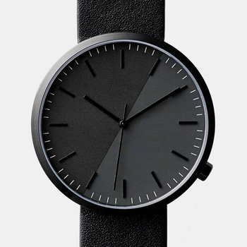 4f4a0fcd937 Unique design all black lugless watch stainless steel case 5ATM waterproof  quartz watches men women