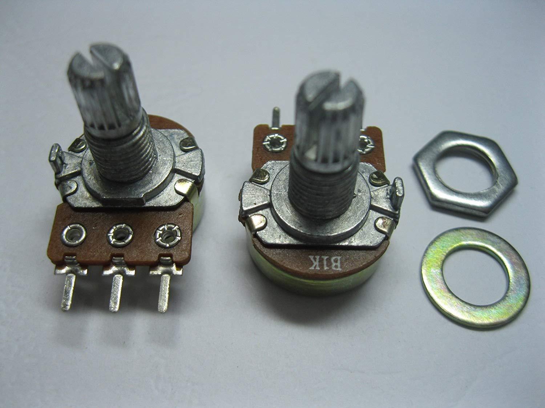 5pcs B5K Potentiometer Linear Mono B Pot with 20mm Split Shaft