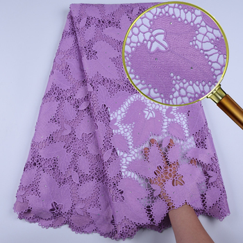 African Lace Fabrics High Quality 5 Yards Embroidered African Cord Lace For Wedding New Arrival Guipure Lace Fabric 1668