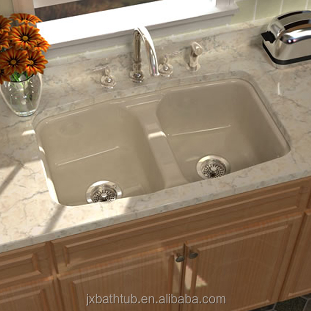 Granite Cast Iron Kitchen Resin Sinks Product Double Bowl Buy Cast ...