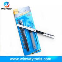 pocket sliding aluminium alloy handle steel snap-off blade 9mm utility knife