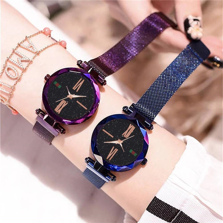 2020 Luxury Women Watches Gift Magnet Buckle Steel Band Stylish Casual Ladies Starry Sky Watch Relojes