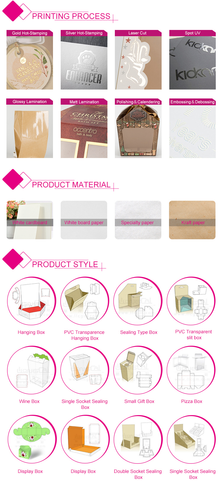 Yellow printing rectangle cardboard paper hang tag for garment