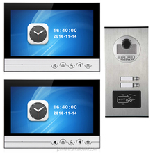 "best video door phone wired doorbell monitor 9"" touch keys with HD camera view outside freely"