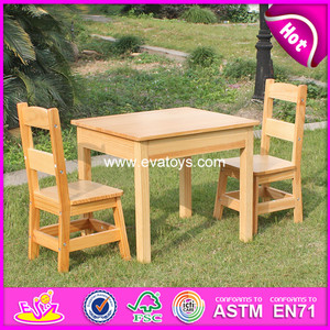 2017 new wooden children table and chair, kids table and chair set, fancy wooden table and chair W08G172