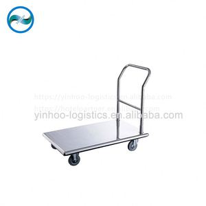power coated metal hand platform trolley picking heavy duty warehouse sale