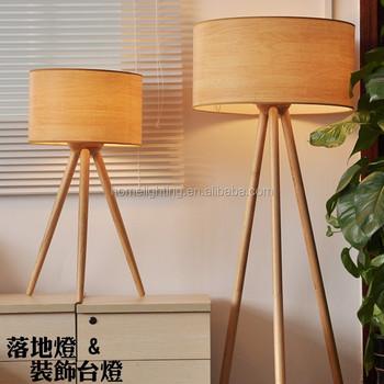 F 45180 Modern Ash Natural Wooden Floor Lamp Model Designer Marine