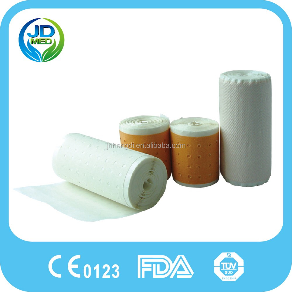 Surgical Use Cotton/Silk Zinc Oxide Adhesive Perforated Plaster Drilled Medical Tape Roll