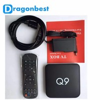 Vehicles the set-top box Q9 with android 5.1 1g DDR3 8G eMMC 1000M 4K2K supported S905 iptv hardware TV box