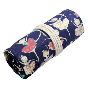 72 Holder Canvas Colored Pencil Wrap Case Pencil Organizer Roll up Ballerina Pencil Bag