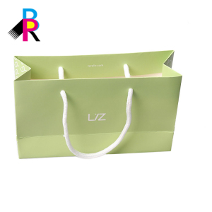 Wholesale new shape coloring printing shoe green paper bag