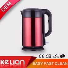 110v safety red stainlless steel electric kettle