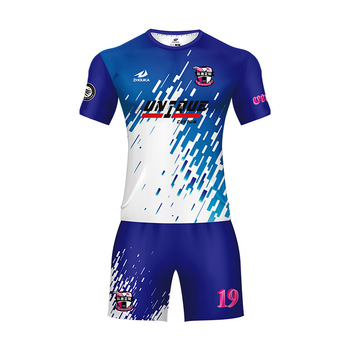 8256f6b3c35 Wholesale Cheap Blank Men Jersey Set Sublimation Football Jersey Full Set  Club Team Soccer Uniforms Design