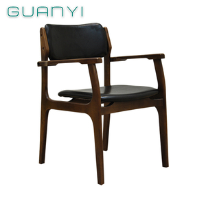 Guangdong easy fabric arm chair indoor antique bent wood rustic chairs with armrests