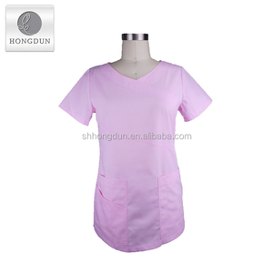 OEM manufacturer direct factory cheap hospital medical uniform , standard textile fabric scrubs