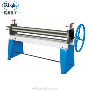 3 rollers hand rolling machine manual metal roller for small plate bending