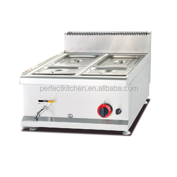 Stainless steel counter top gas bain marie for sale
