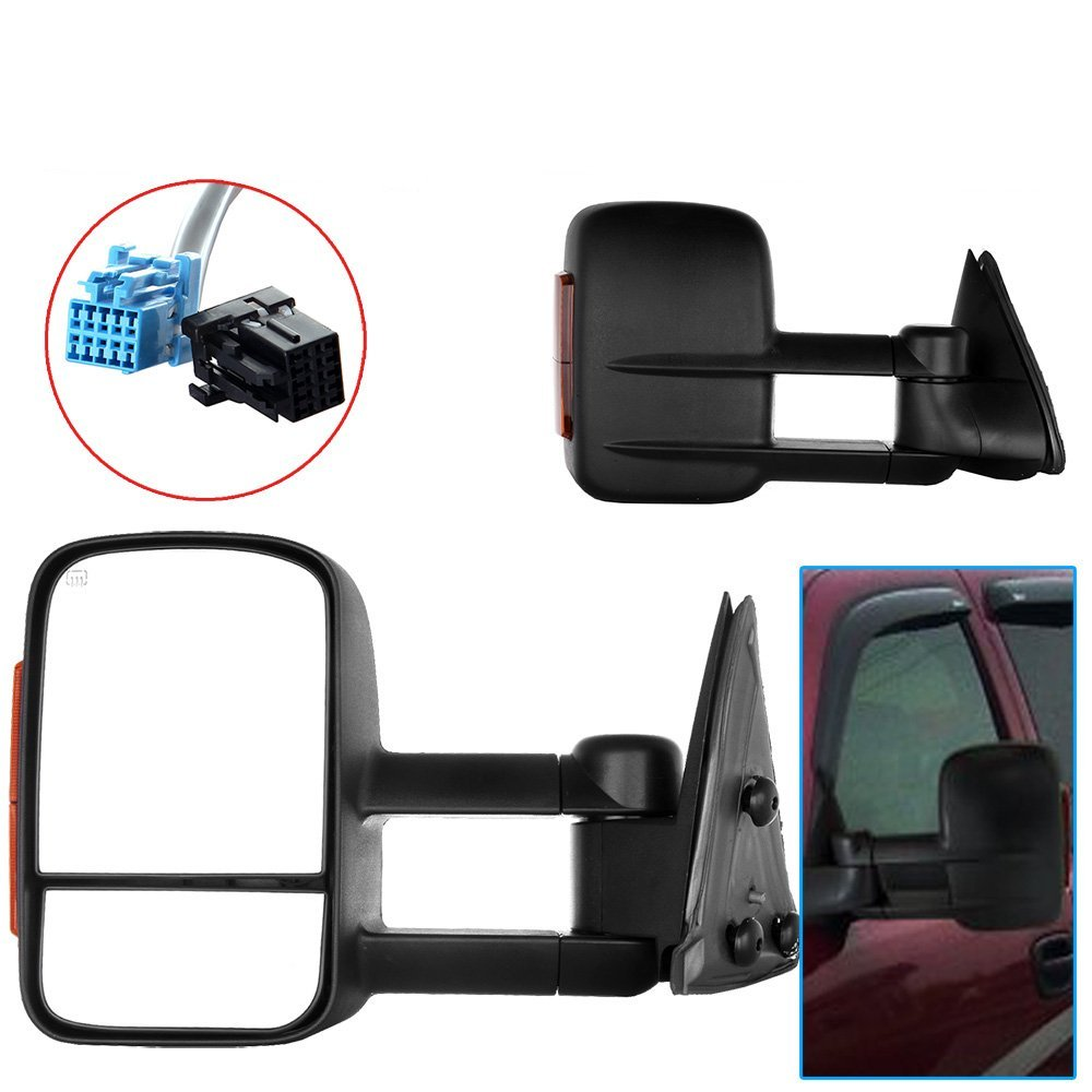 Scitoo 2003-2007 Chevy/GMC Silverado/Sierra Power Heated Signal Towing Mirror Pair (2004 2005 2006 models 07 Classic)