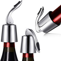 New product ideas 2019 Keep Wine Fresh Reusable Stainless Steel Wine Bottle Cap Plug Sealer Vacuum Stopper Wine