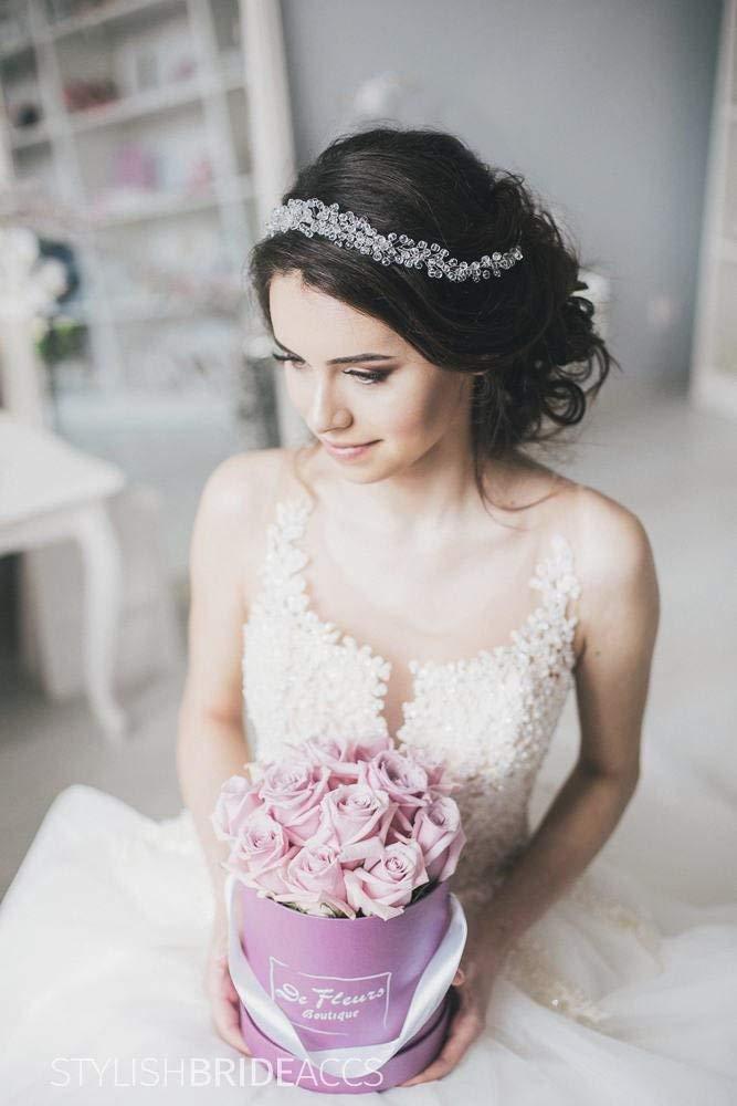 Bridal Crystal Hair Vine Crown, Wedding Hair Vine Gold Silver, Wedding Crystal Hair Vine, Bridal Hairpiece, Wedding Crystal Crown