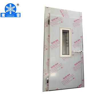 0.8*1.8m cold room hinged door with view window