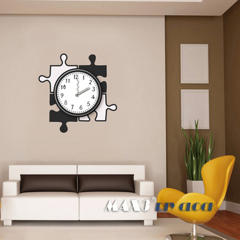 Max Blackwhite Clock Vinyl Wall Decals Letter D Wall Stickers - Wall decals clock