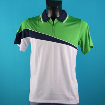 half zip color block sport polo t shirt design buy half