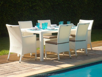 All Weather Synthetic Rattan Kd Outdoor Dining Furniture Buy - All weather outdoor dining table