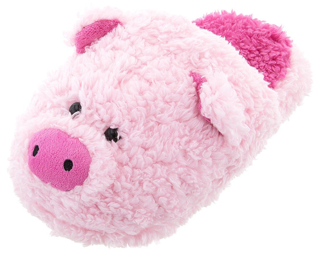 2cb6edec76d Get Quotations · Women s Fuzzy Pink Pig Slippers